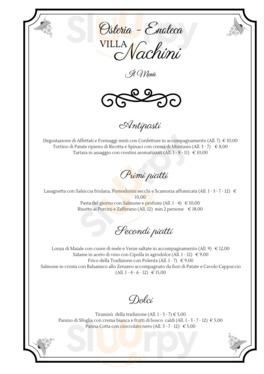 Villa Nachini A Corno Di Rosazzo Menu Prezzi Recensioni Del