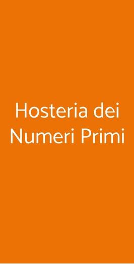 Hosteria Dei Numeri Primi, Roma