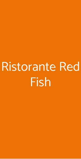 Ristorante Red Fish, Lido di Ostia