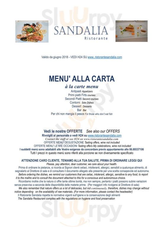 Ristorante Sandalia A Roma Menù Prezzi Recensioni Del Ristorante