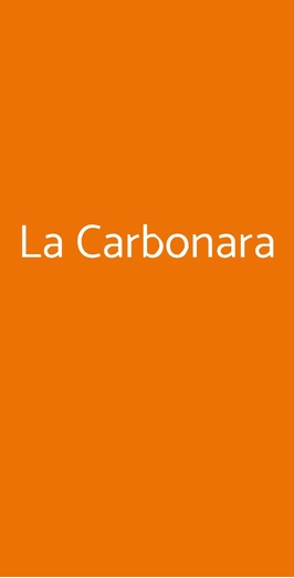 La Carbonara, Roma