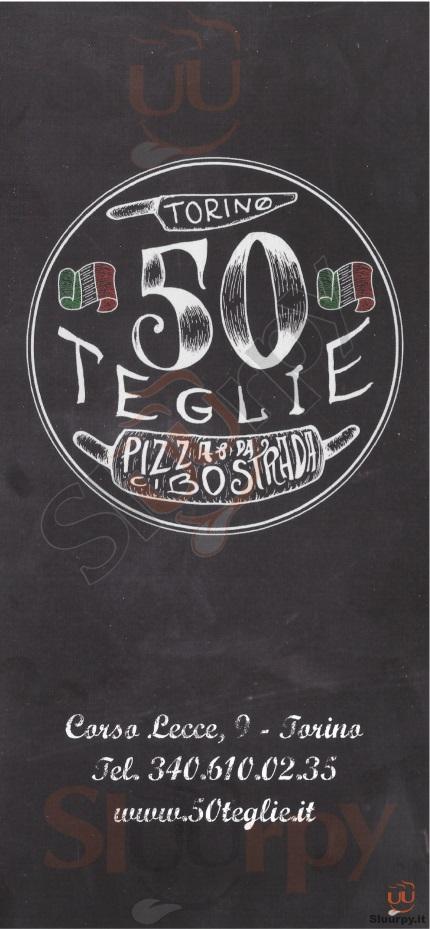 50 TEGLIE Torino menù 1 pagina