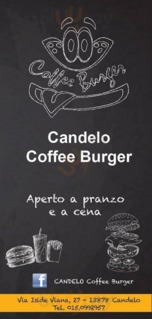 Menu Candelo Coffee Burger