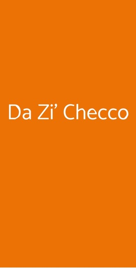 Da Zi' Checco, Roma