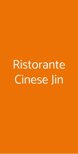 Ristorante Cinese Jin, Roma