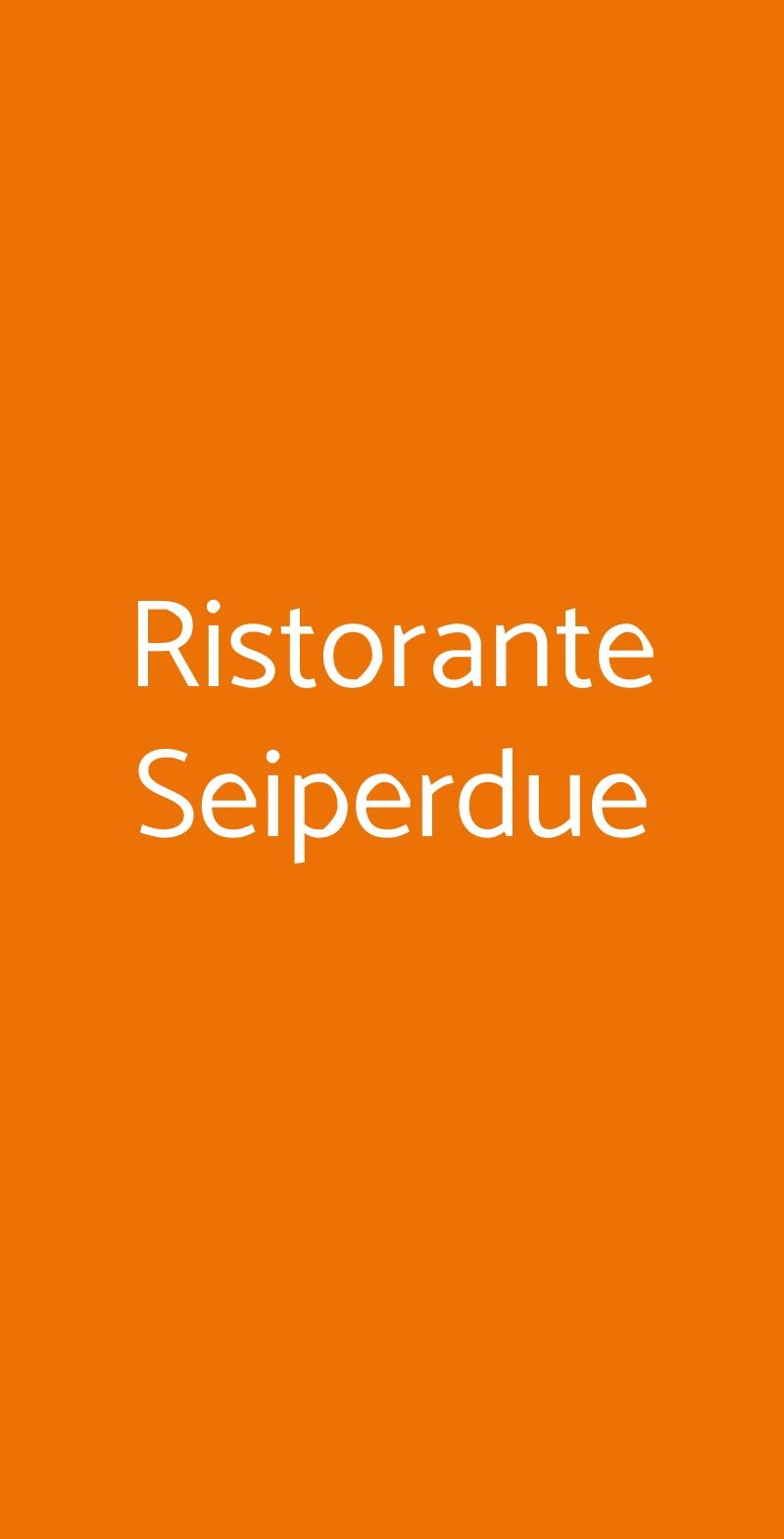 Ristorante Seiperdue Roma menù 1 pagina