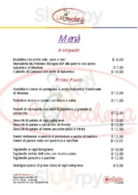 Menu La Gnoccheria