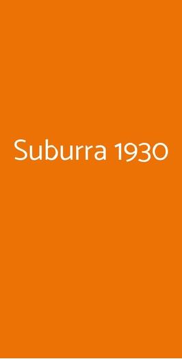 Suburra 1930, Roma