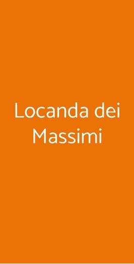 Locanda Dei Massimi, Roma