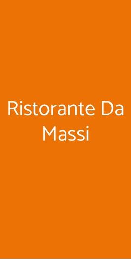Ristorante Da Massi, Roma