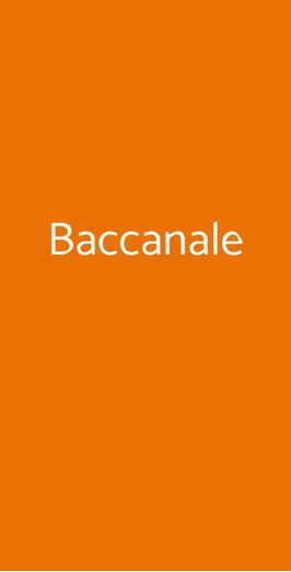 Baccanale, Roma
