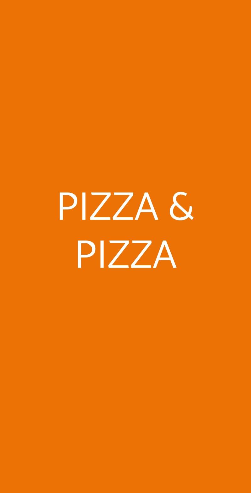 PIZZA & PIZZA Torino menù 1 pagina