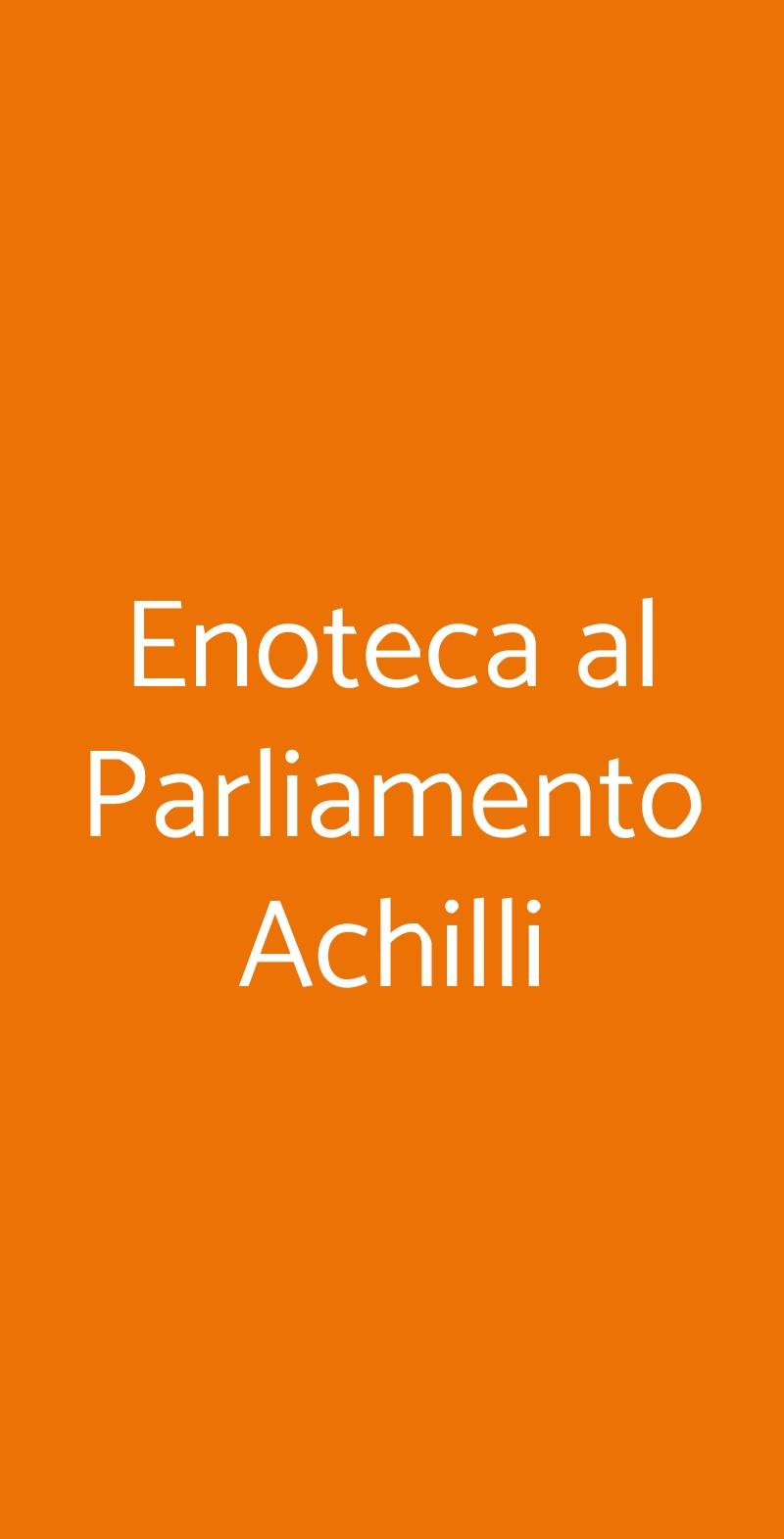 Enoteca al Parliamento Achilli Roma menù 1 pagina