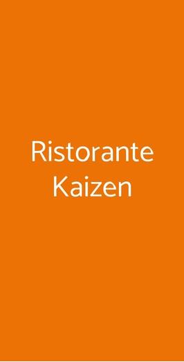 Ristorante Kaizen A Roma Menù Prezzi Recensioni Del Ristorante