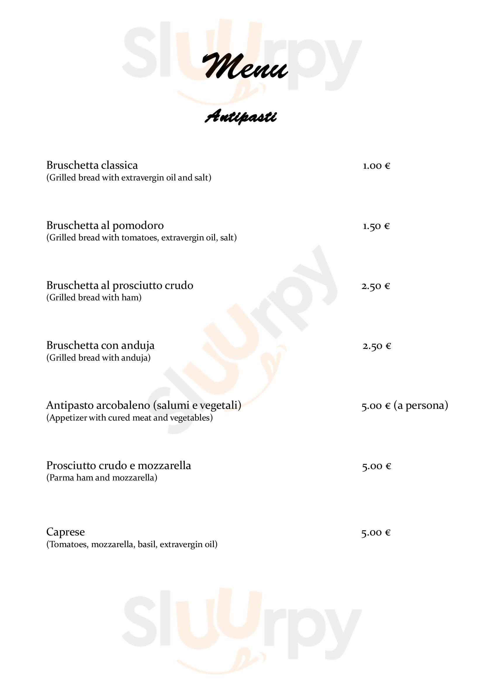 L'Arcobaleno Ristorante Pizzeria Roma menù 1 pagina