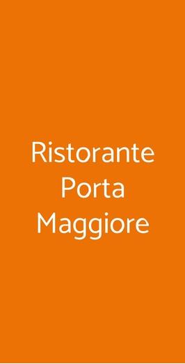 Ristorante Porta Maggiore, Roma