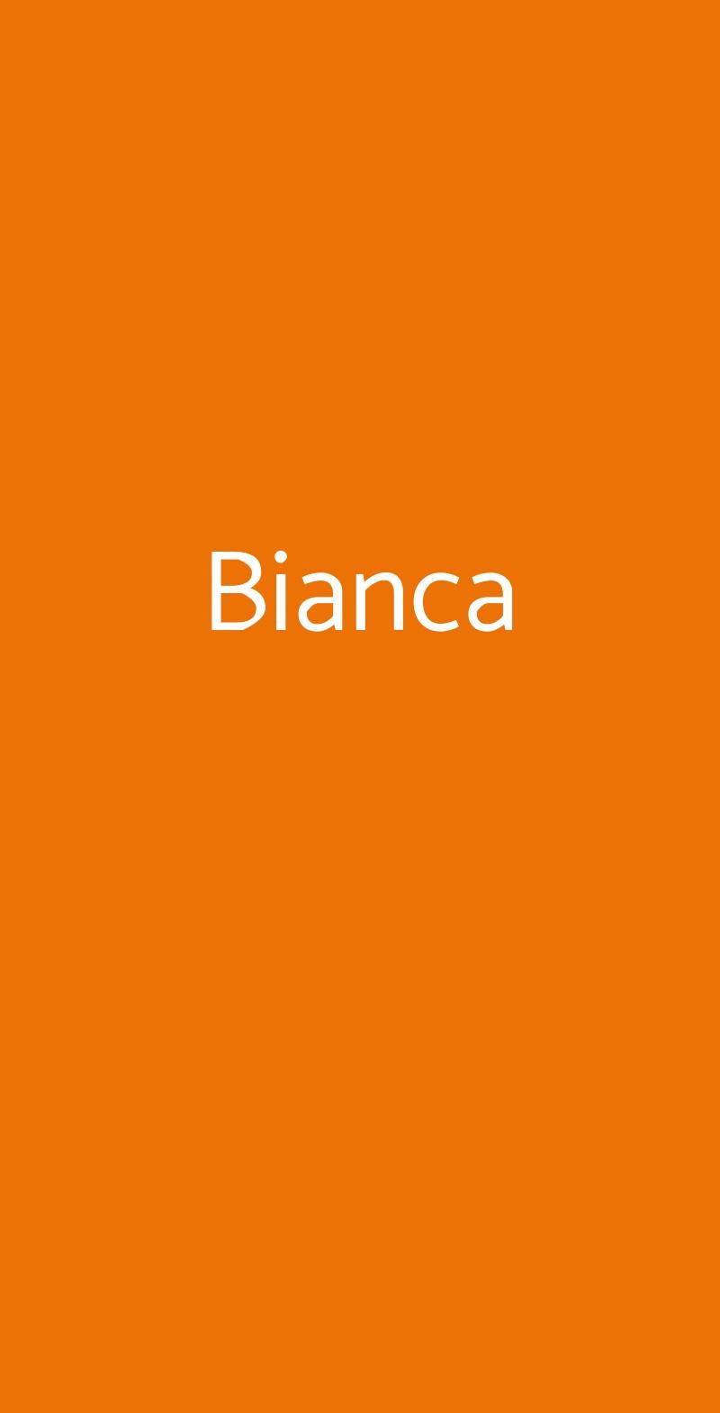 Bianca Milano menù 1 pagina
