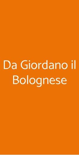 Da Giordano Il Bolognese, Milano