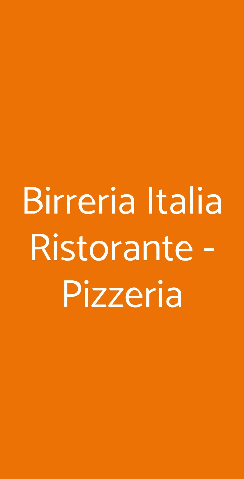 Birreria Italia Ristorante - Pizzeria Sanremo menù 1 pagina