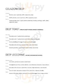 Menu Deep Milano Cafe & Food