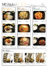 Menu BIM Coreano