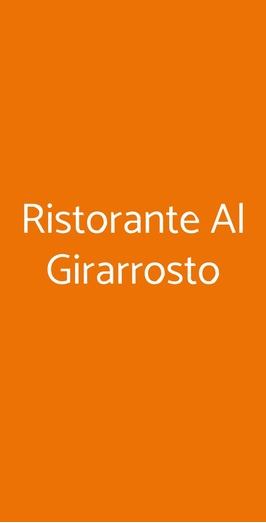 Ristorante Al Girarrosto, Genova