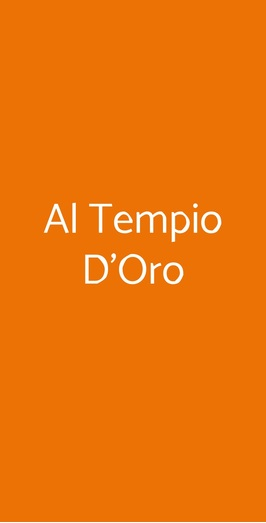 Al Tempio D'oro, Milano