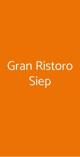 Gran Ristoro Siep, Genova