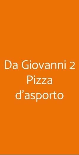 Da Giovanni 2 Pizza D'asporto, Sanremo