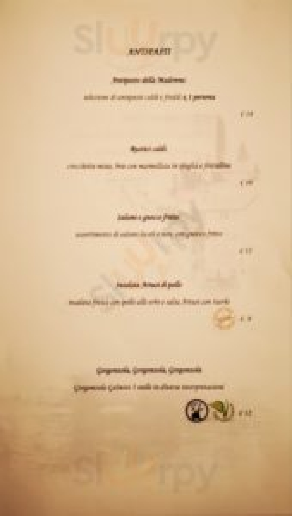 osteria della madonna Pavia menù 1 pagina
