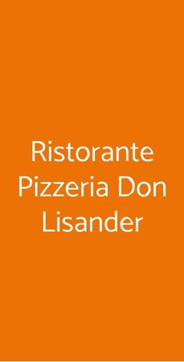 Ristorante Pizzeria Don Lisander, Como