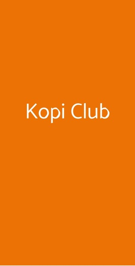 Kopi Club, Laveno-Mombello