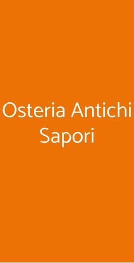 Osteria Antichi Sapori, Como