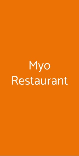Myo Restaurant, Milano