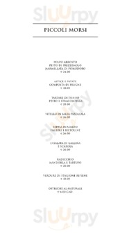 "Menu ""Il Ristorante"" at Bulgari Hotel Milan"