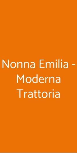 Nonna Emilia - Moderna Trattoria, San Donato Milanese