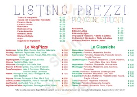 Menu Natur Pizza