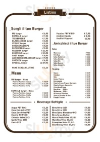 Menu MU Italian Finest Burger