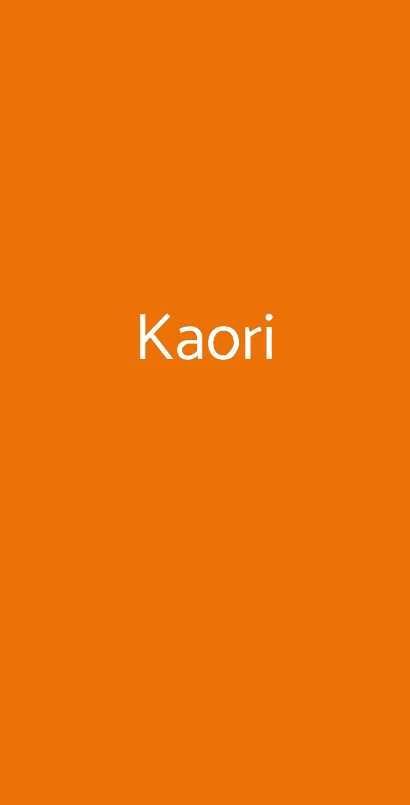 Kaori Milano menù 1 pagina