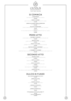Menu L'Isola 56 - Tasting House
