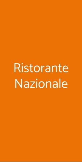 Ristorante Nazionale, Milano