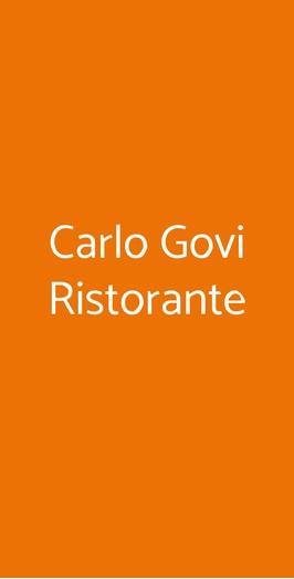 Carlo Govi Ristorante, Mantova