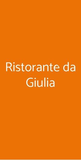 Ristorante Da Giulia, Milano