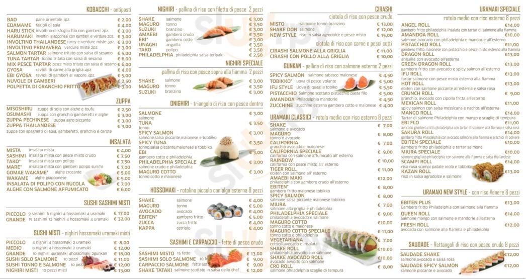 Menu Kazan Sushi