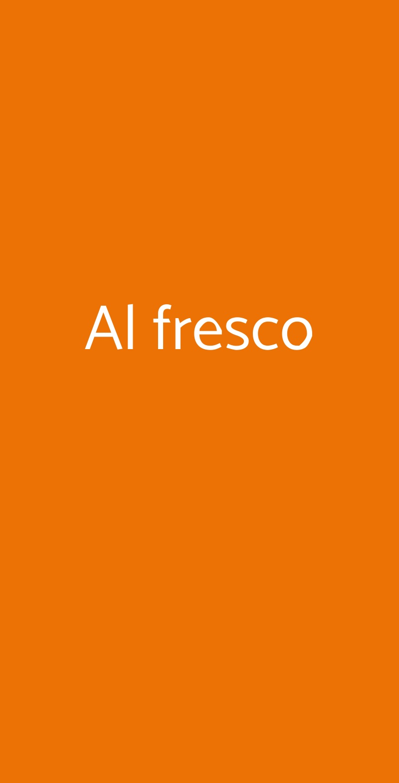 Al fresco Milano menù 1 pagina