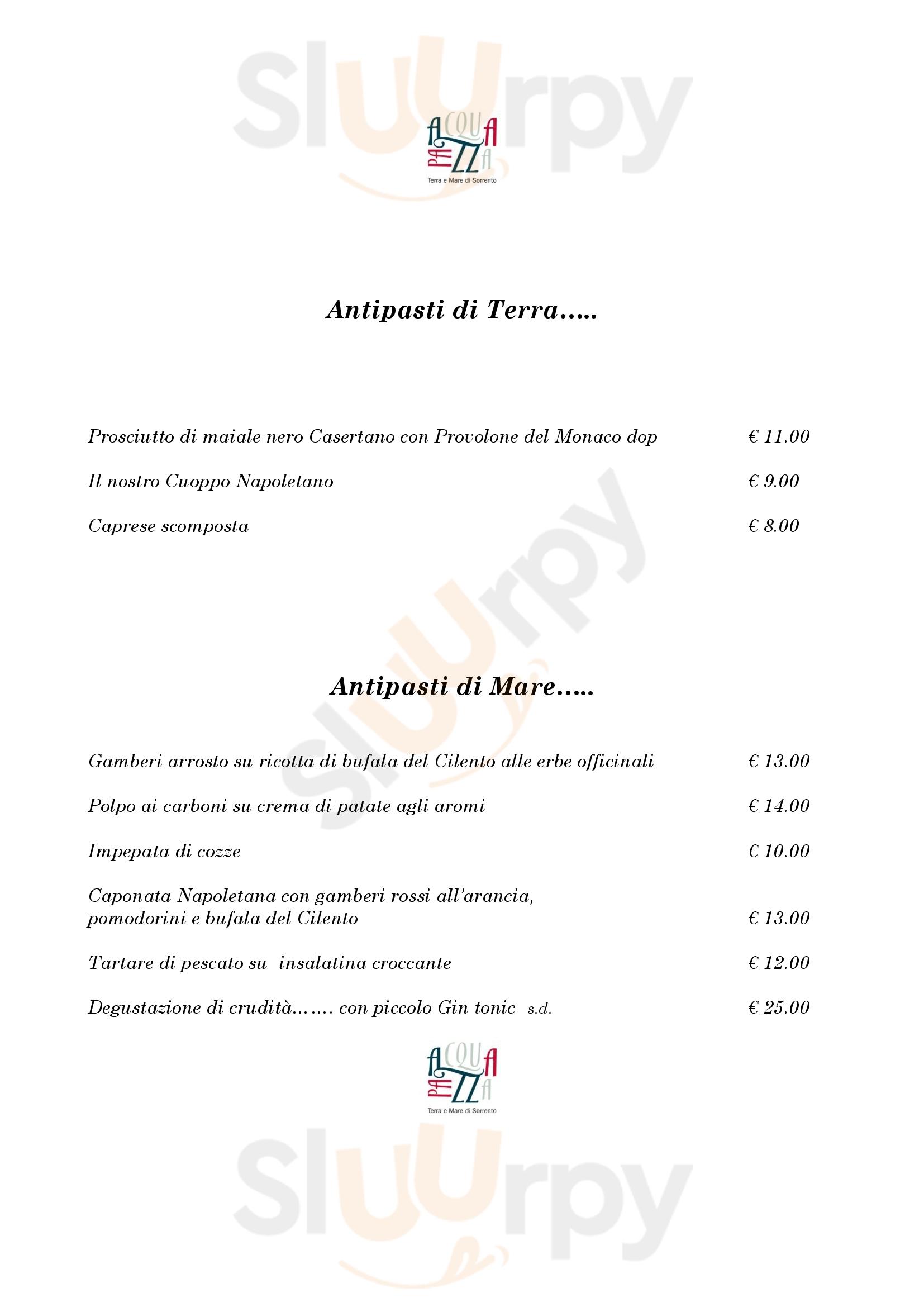 Acquapazza Mantova menù 1 pagina