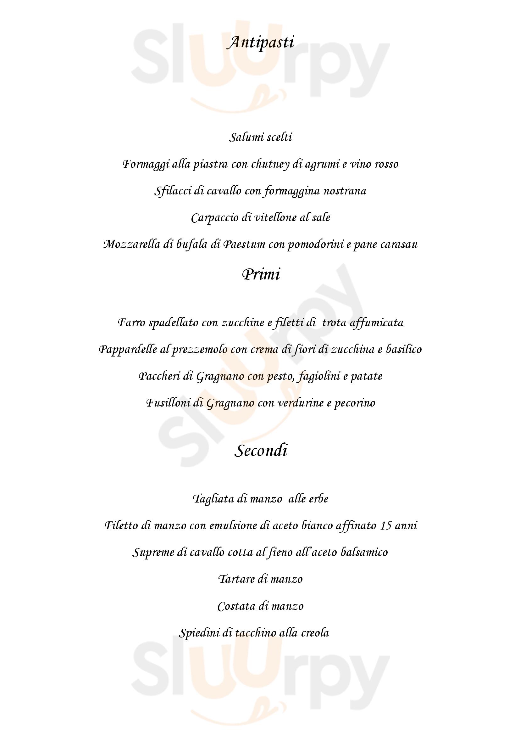 Osteria Vecchia Capronno Angera menù 1 pagina