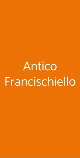Antico Francischiello, Massa Lubrense