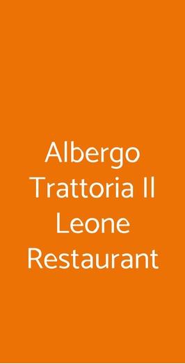 Albergo Trattoria Il Leone Restaurant, Pomponesco
