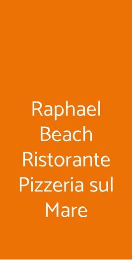 Raphael Beach Ristorante Pizzeria Sul Mare, Civitanova Marche
